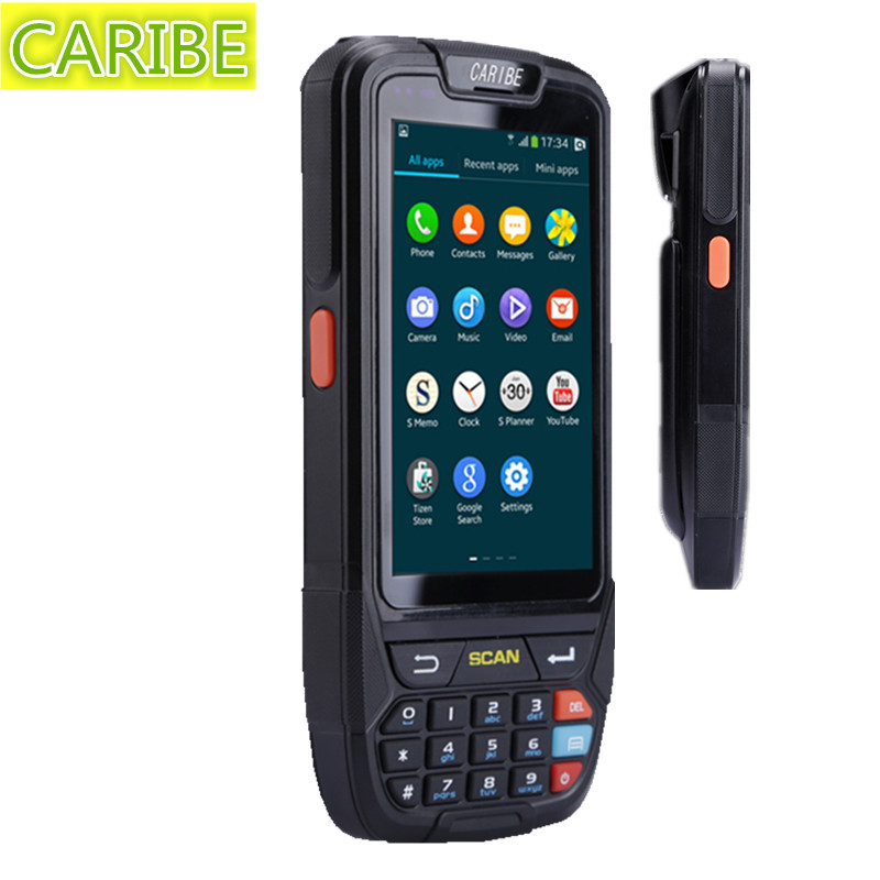 CARIBE PL-40L Android Industrial PDA Handheld Tablet 1D Barcode Scanner Bar Code Reader, Data Collectors Camera NFC Reader GPS caribe pl 40l industrial handheld android pda wifi mobile 1d barcode scanner and hf rfid tags reader