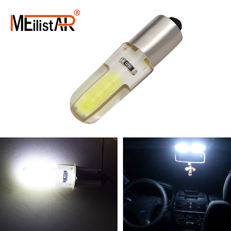 Car Led 1x T11 T4W 363 BA9S COB Led Silicone Auto Signal Lamp Car License Plate Light Turn Signal Bulb Parking Lights Door Lamp