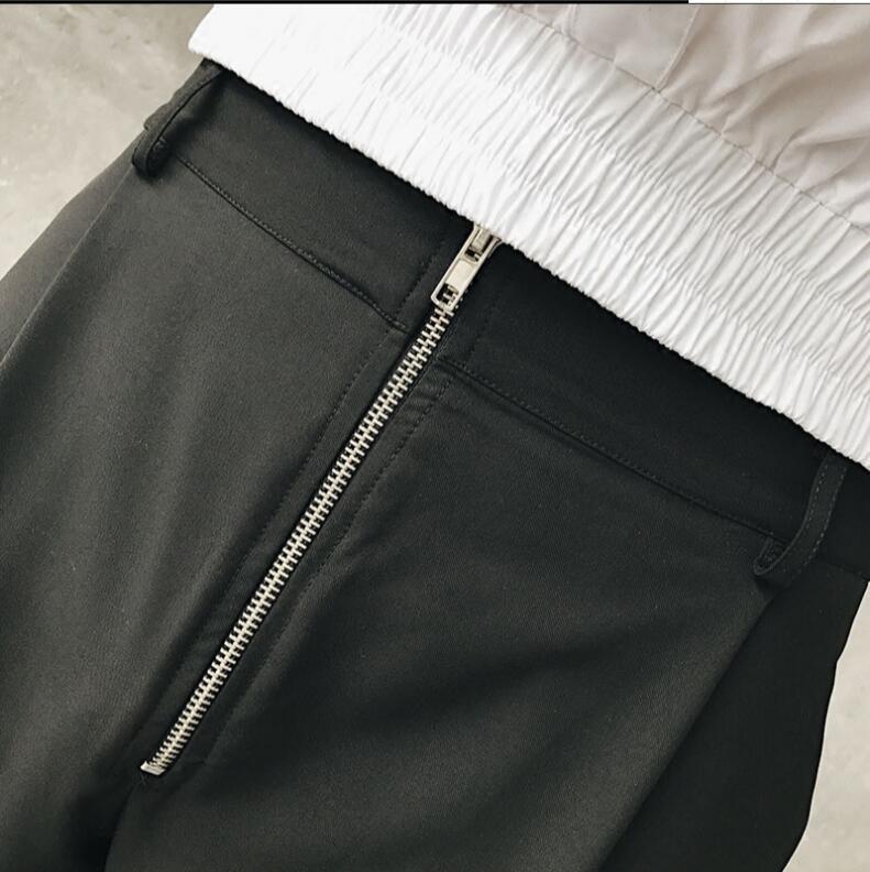 Tamaño Guapo 27 Pantalones Trajes 2018 Moda 46 Gd Nuevos Pies Ropa Negro Pequeños Original Estilista Rectos Hombres CqpzwFBT6C
