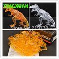 HAPPYXUAN DIY 3D Jigsaw Crystal Puzzle 50pcs Dinosaur Tyrannosaurus Plastic Home Decoration Birthday Gift for Children