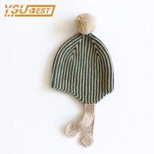 New 2017 Knitted Cotton Hat Newborn Baby Hat Autumn Winter Baby Hats Cute Kids Boy Cap Bonnet Infant Boys Girls Knitted Hat