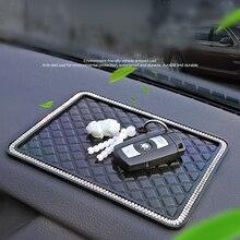 Автомобильный Противоскользящий коврик для мобильного телефона mp4 gps Стразы Нескользящие крышка ПВХ автомобиля липкая Нескользящие колодки