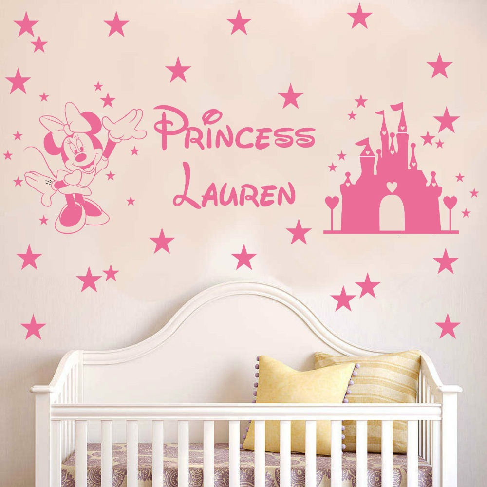 Mickey Mouse Wall Decal Personalised Name Princess Kids Sticker . Good Looking