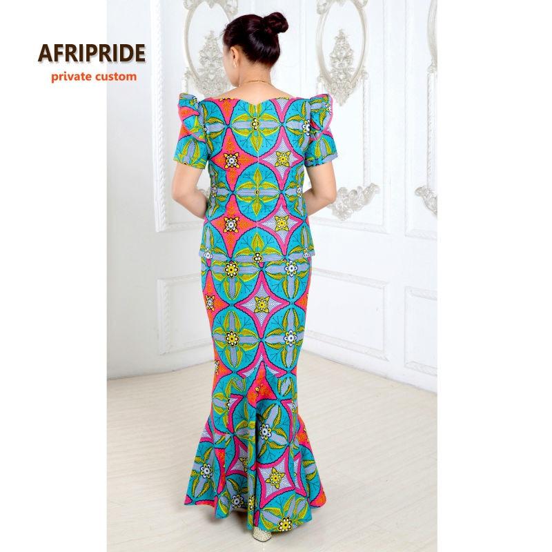 Sommarafrikanska klänningar för kvinnor tvådelade kostym - Nationella kläder - Foto 3