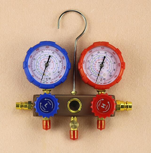 Without oil gauge type Refrigerator Parts for car 500-800 psi manifold refrigerant pressure gauge lionel 19532 hormel refrigerator car o gauge train