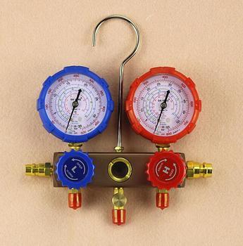Without oil gauge type Refrigerator Parts for car 500-800 psi manifold refrigerant pressure gauge