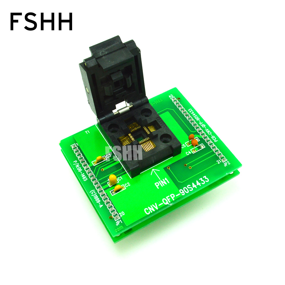 все цены на CNV-QFP-90S4433 Programmer adapter for ALL-11 Programmer adapter TQFP32/QFP32 adapter test socket онлайн