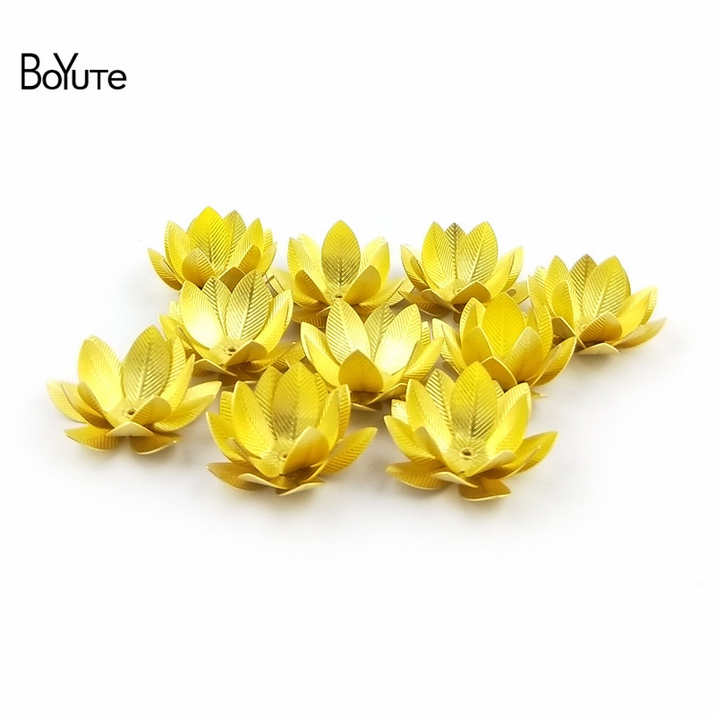 BoYuTe (10 PiecesLot) 26MM Silver Gold Bronze Metal Brass Filigree Flower Decoration (1)