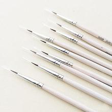 Stylo à ligne Fine à crochet peint à la main 6 pouces, stylo d'art pour dessin #0 #00 #000, brosse de peinture, fournitures d'art, stylo de peinture en Nylon