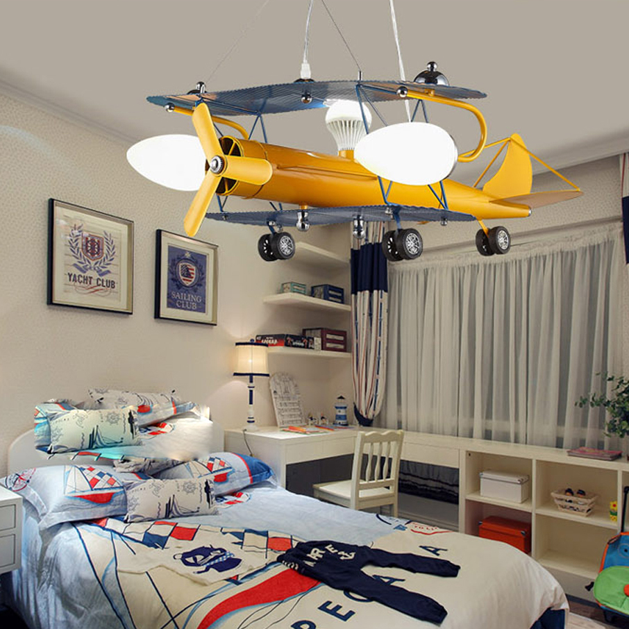 led e27 Modern Iron Glass Yellow LED Lamp LED Light.Pendant Lights.Pendant Lamp.Pendant light For Kids Room