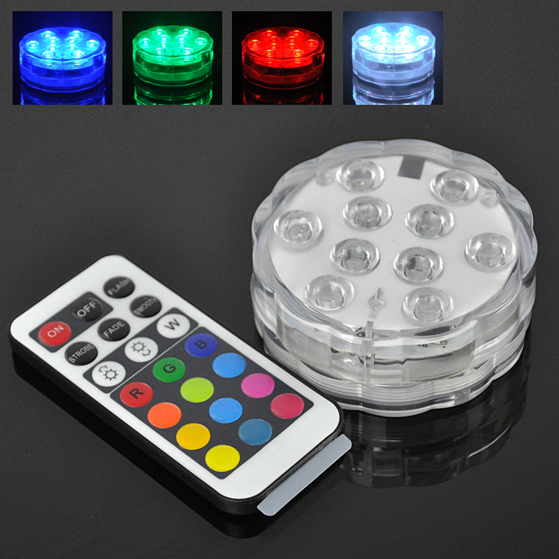 Ufo waterproof led aquarium light rgb remote control for Fish house lights