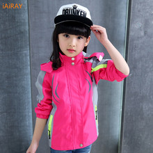 iairay brand new 2019 children clothing spring jacket for girls coat kids girls jackets pink hooded jacket casual tops outerwear
