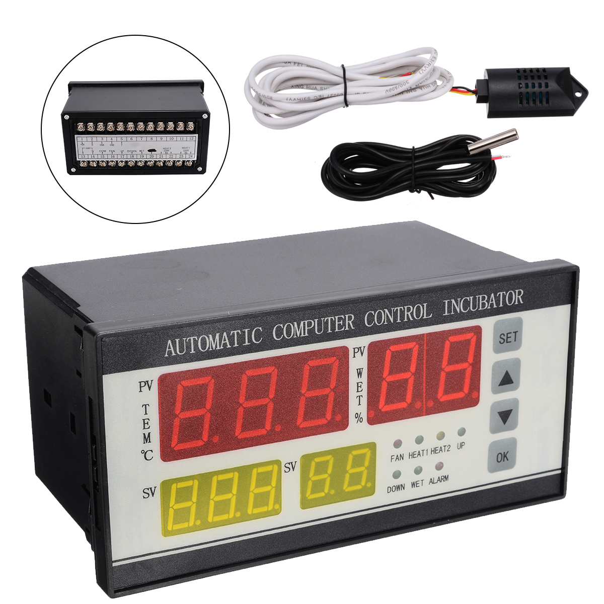 Digital Automatic Incubator Controller Air Temperature Humidity Controller for Egg Chickens Temperature Controller in Temperature Instruments from Tools