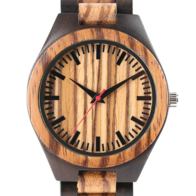 Full Bamboo Wooden Watch Fold Clasp Elegant Bangle for Men Luxury Quartz Watches Wooden Band Wrist Watches High Quality Clock aa wooden watches w1 orange aa wooden watches