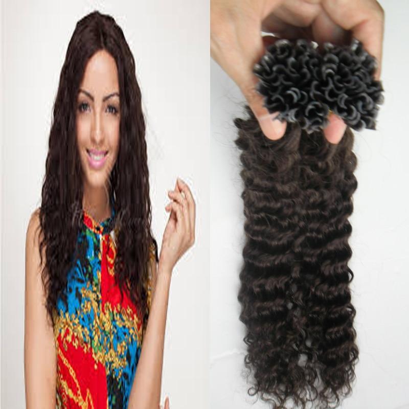 U Tip Hair Extensions Human 2 Darkest Brown Brazilian Pre Bonded