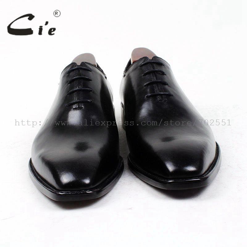cie square plain toe bespoke men shoe custom handmade leather men shoe full grain calf leather men's dress oxford  shoe OX410