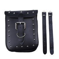 New Black PU Leather Motorcycle Backpack Bag Saddlebag Saddle Bag Motorbike Storage Tool Bags Fit For