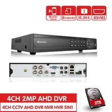 NEW 4CH AHD 1080P HDMI H.264 CCTV DVR 2.0MP High Resolution 4 channels P2P Surveillance Digital Video Recorder sd dvr high resolution digital video recorder for fpv system
