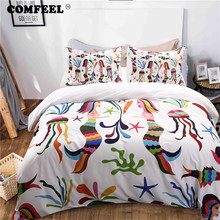 COMFEEL 2019 Comforter Duvet Cover Sets Tropical Style King Size Cotton Bedding Set with Pillowcases Home Textile Quilt Covers