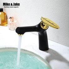 Специальный дизайн ванной кран cо спаренной лист ручки бассейна Кран раковина MixersTaps горячей и холодной Смесителя Torneira Cozinha MJ3001