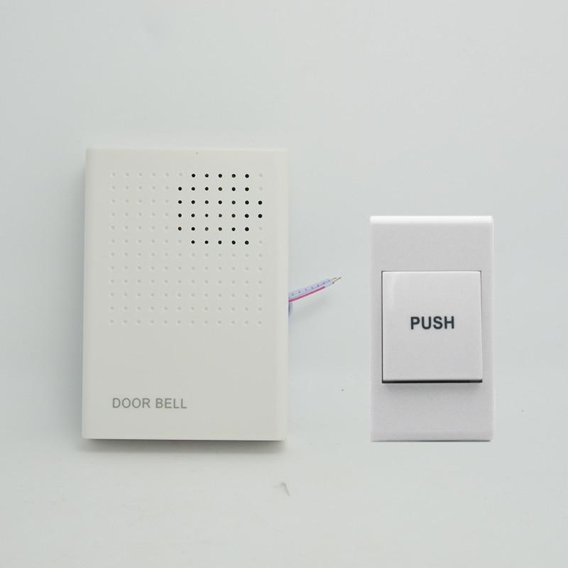 (1 комплект) проводной дверной звонок Главная Управление доступом домофон dingdong высокое качество 3 В аккумулятор с выпуском кнопка для Беспла...