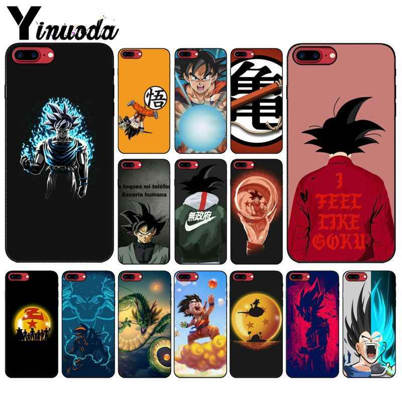 Yinuoda Dragon Ball Z Super DBZ Goku Fashion Coque Coque Shell Phone Case for iPhone X XS MAX 6 6S 7 7plus 8 8Plus 5 5S XR