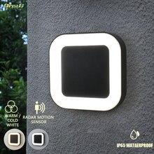 Светильник с управлением 20 Вт Ip65 водонепроницаемый наружный 40 светодиодный наружный настенный светильник с датчиком движения 3 светильник сменный цвет садовые настенные лампы