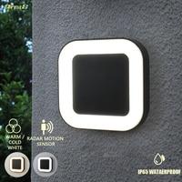 Design 20w Ip65 Waterproof Exterior 40 Led Outdoor Wall Lamps Garden Wall Light Modern Outdoor Lighting With Radar Motion Sensor