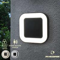 Licht Control 20w Ip65 Wasserdichte Außen 40 Led Outdoor Wand Licht Motion Sensor 3 Licht Farbe Veränderbar Garten Wand lampen
