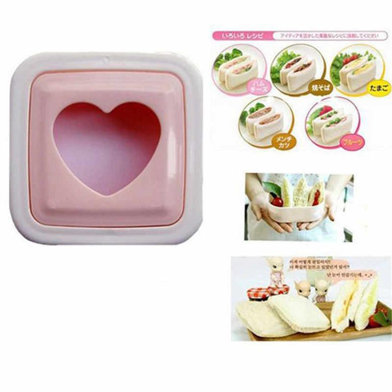 Tostadora de pan de sándwich con forma de corazón, 1 pieza, molde, cortador, herramienta DIY P0.2