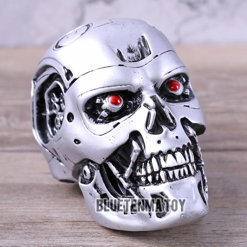 Model-Toy Doll Terminator Skeleton-Head Action-Figure Anime Pvc Cartoon 5-T800 1:2 Silver