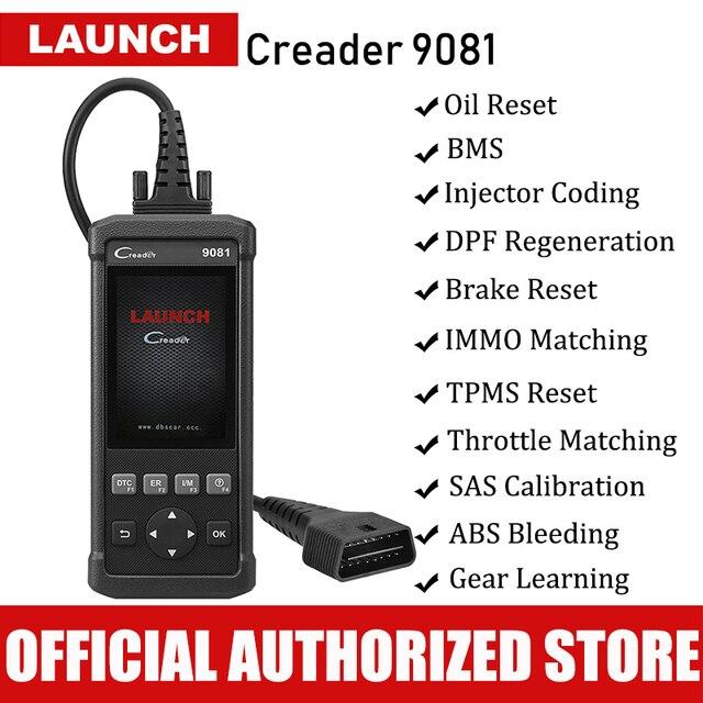 Launch CReader 9081 OBD2 Scanner Automotive Reset Tool Code Reader Autoscanner Car Diagnostic Tool Scaner Brake Oil Reset TPMS