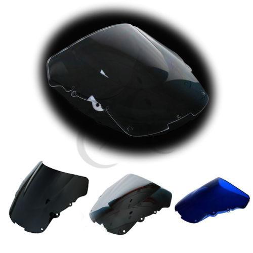 Double Bubble Clear Motorcycle Screen For Honda CBR1100XX CBR 1100 XX 96 07 Four Colors