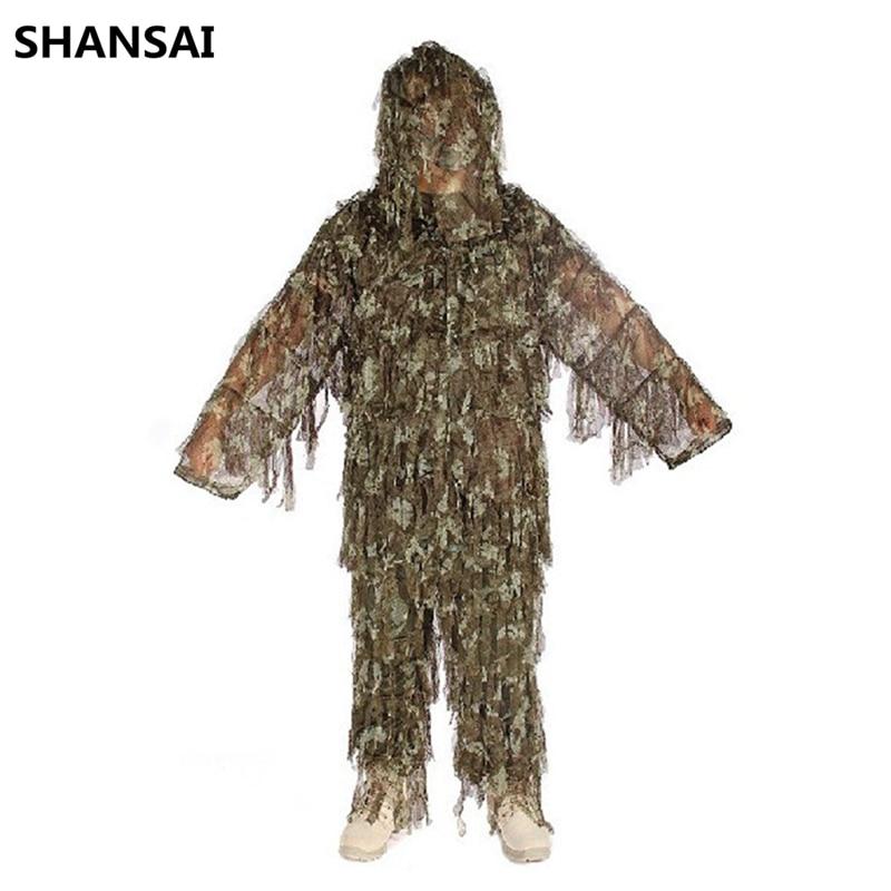 Sportbekleidung Shansai Schlacht Strapazen Bionic Ghillie Anzüge Camouflage Jagd Anzug Recon Paintball Airsoft Fotografieren Militär 100% Hochwertige Materialien Sport & Unterhaltung