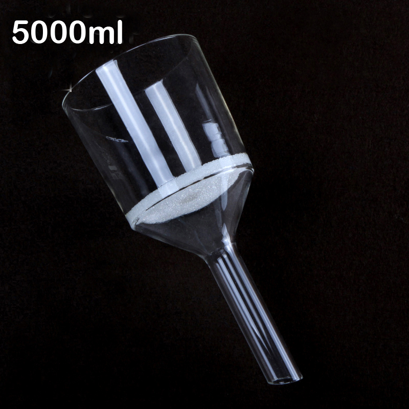 5000ml High quality Sand core funnel Vertical melting filter funnel free shipping Bacterial funnel G1 G2 G3 G4 G5 цена