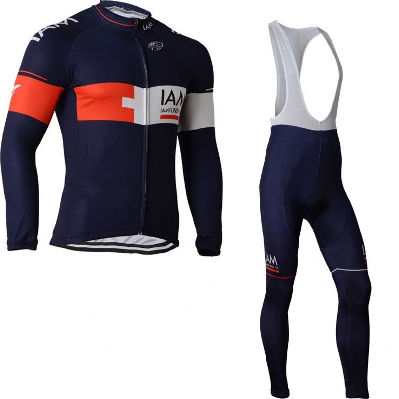 winter thermal fleece pro team IAM Ropa Ciclismo Bicycle maillot blue cycling jersey warmer quick dry bike clothing MTB 3D GEL 2016 fluor pro team sky cycling long jersey winter thermal fleece long bike clothing mtb ropa ciclismo bicycling maillot culotte