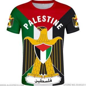 Image 1 - Palestyna t shirt diy za darmo na zamówienie nazwa numer palaestina koszulka PLE flaga narodowa tate carrinina college drukuj logo odzież