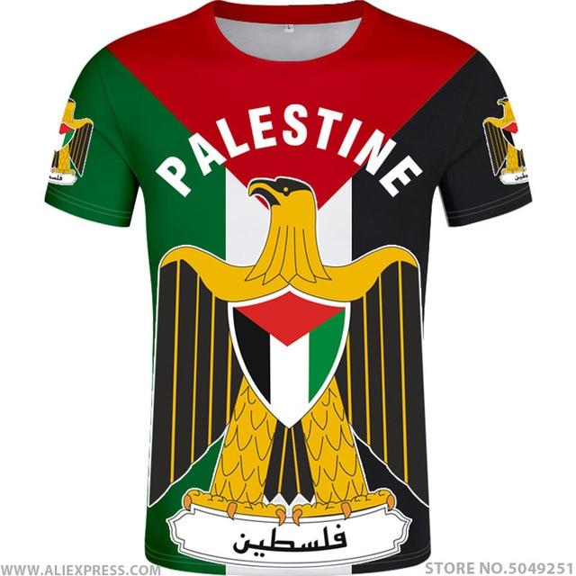 פלסטין t חולצה diy משלוח תפור לפי מידה שם מספר palaestina חולצה PLE האומה דגל טייט palestina מכללת הדפסת לוגו בגדים