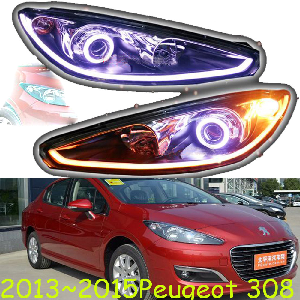 HID,2013~2015,Car Styling for Peugeo 308 Headlight,insight,206 207 308 3008 408 4008 508 Raid RCZ,Partner,308 head lamp