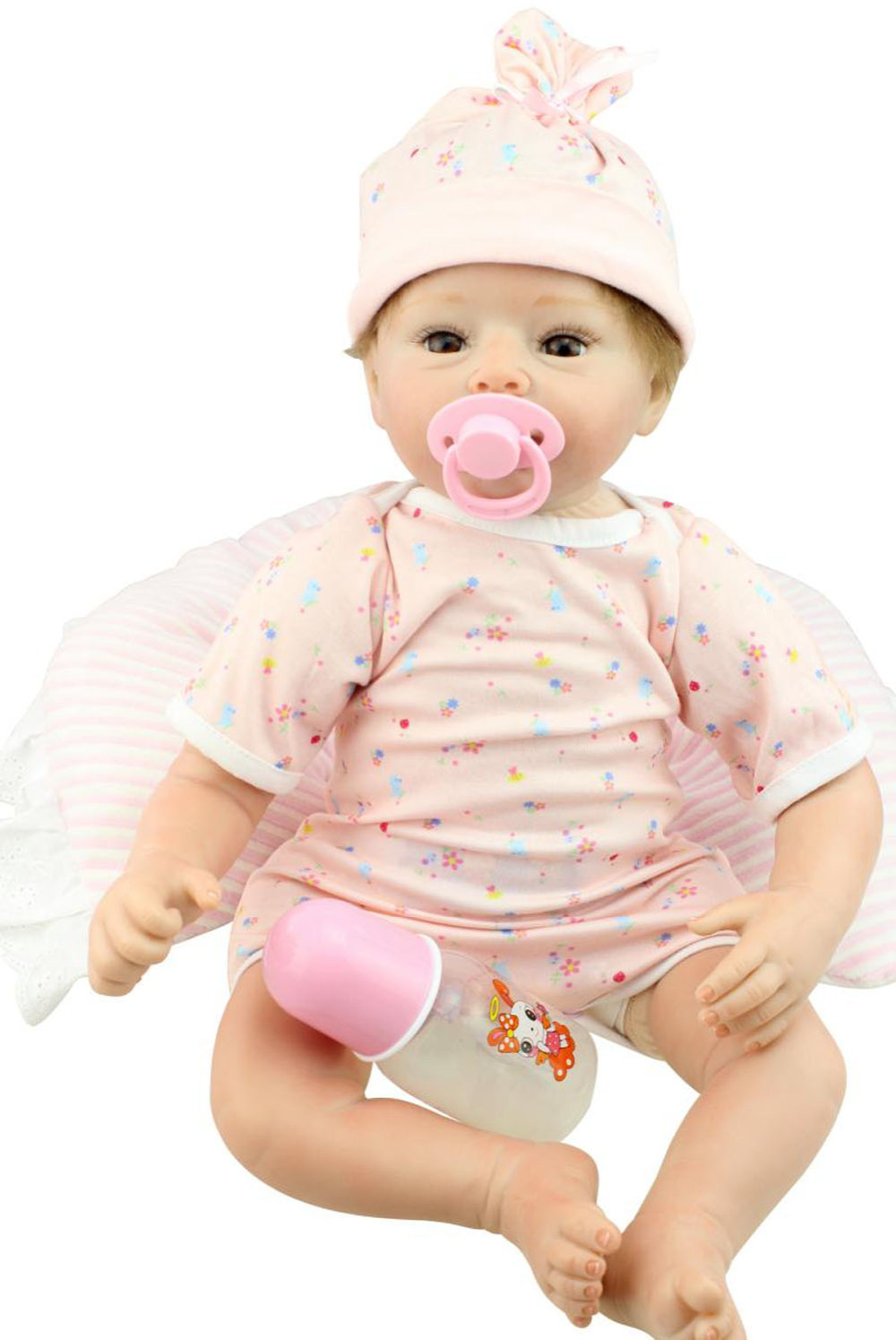 22inch Silicone Lifelike Reborn Baby Alive Doll Girl With Milk Tooth Handmade Realistic Gift Toys Women Collects Dolls Aliexpress