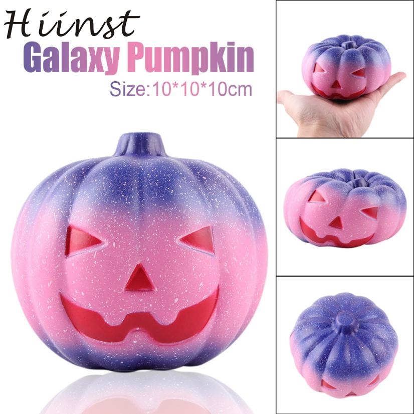 Pink star pumpkin head 10cm Lovely Galaxy Pumpkin Cream Scented Squishy Slow Rising Squeeze Toys Charm PU toys ov15 p30