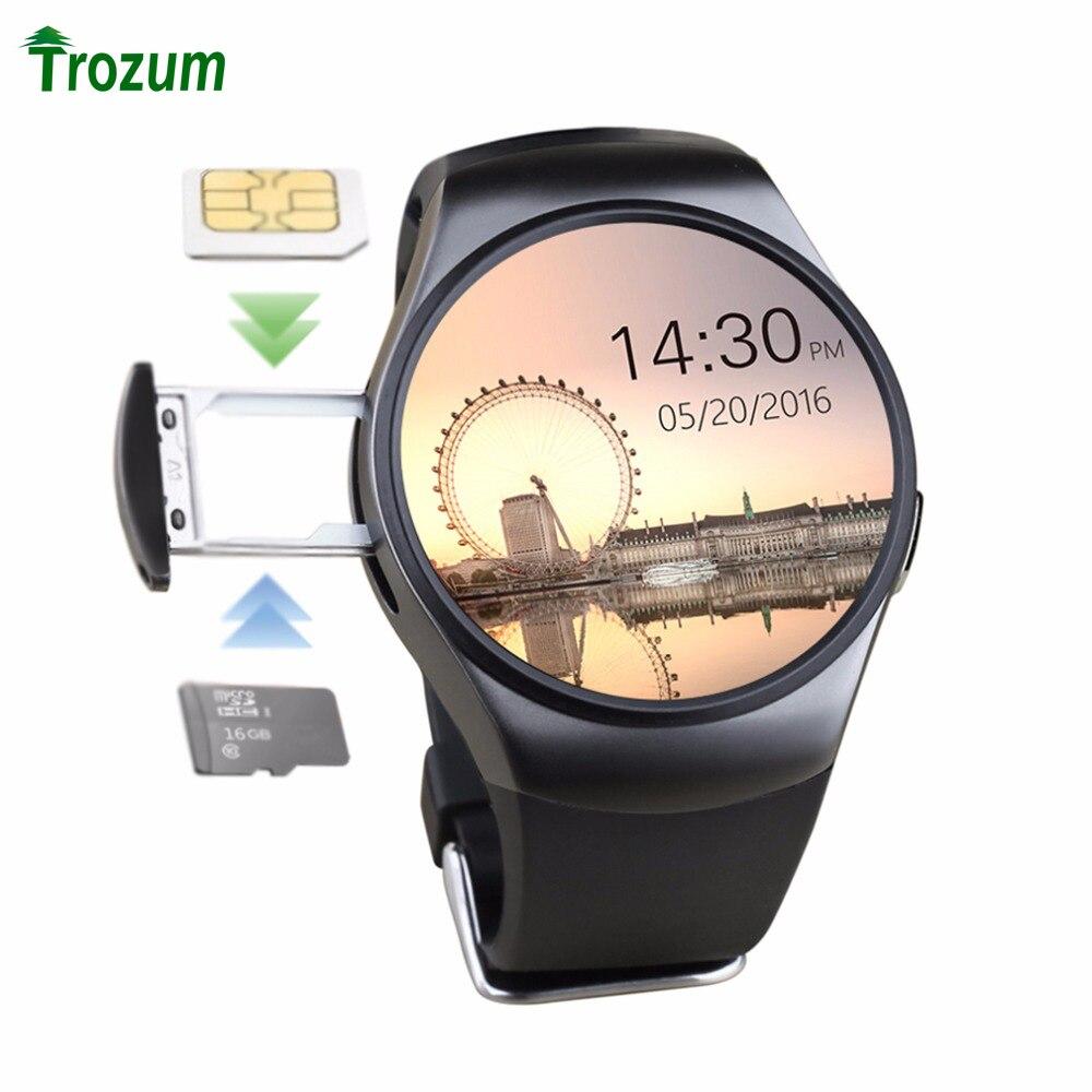TROZUM K18 Bluetooth reloj inteligente de pantalla completa Apoyo TF Tarjeta SIM