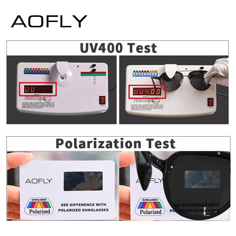 Image 5 - AOFLY ブランドデザインパイロットサングラス男性偏光サングラス UV400 ユニークなオーバルフレーム眼鏡 Gafas デゾル AF8115    グループ上の アパレル アクセサリー からの サングラス の中