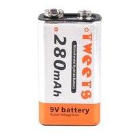 Free Shipping High Quality Wholesale 2pcs Lot 280mAh Battery 280 MAH Ni MH NiMH 6F22 Rechargeable