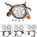 New Promotion Taiwan ZOOM HB-870 MTB Hydraulic Disc Brake Set 2pcs HS1 Rotors w/Bolts Brake Caliper Brake Lever Hose Brake Pad