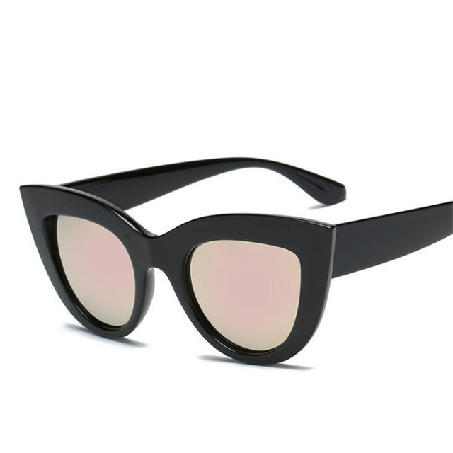 Vintage Women's Cat Eye Sunglasses Tinted Color Lens