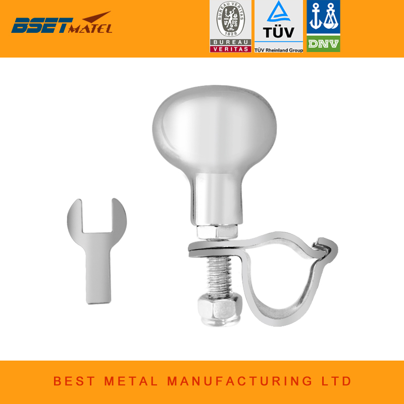 BSET MATEL stainless steel 316 Steering Wheel Power Handle Ball Grip Knob Turning Helper Hand Control for Marine Boat Yacht