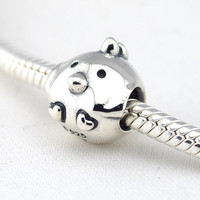 925 Sterling Silver Cute Chicken Beads Fits Pandora Original Charms Bracelet Metal DIY Necklace Beads Sterling