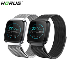 HORUG Smart Watch Sports Fitness Bracelet Activity Tracker Heart Rate Monitor for Apple iPhone 6 7 ios Android