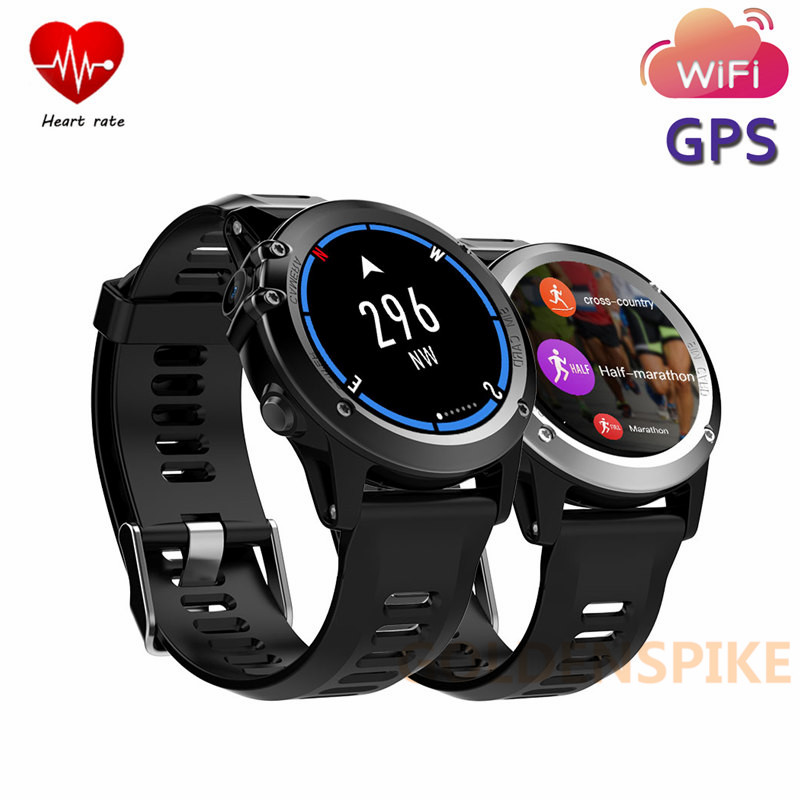 New H1 GPS Wifi 3G Smart Watch MTK6572 IP68 Waterproof Camera 500W 1.39inch 400*400 Heart Rate Monitor 4GB+512MB For Android IOS все цены